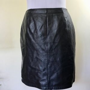 Vintage Wilsons Black Leather Mini Skirt